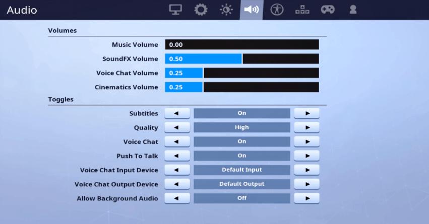 Dakotaz Audio Settings