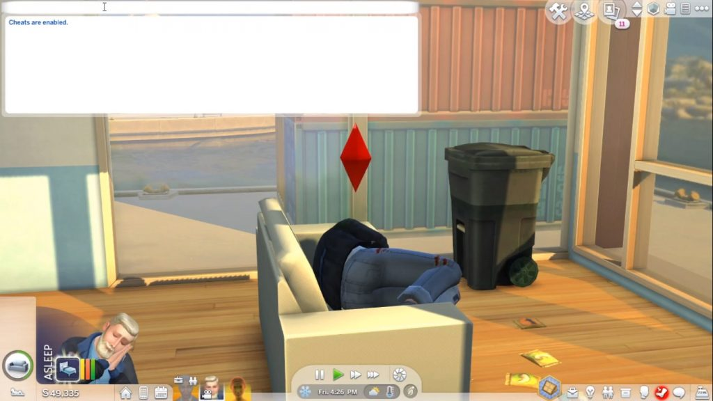 SIms 4 cheats enable