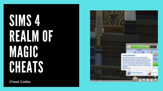 sims 4 Realm Of Magic Cheats