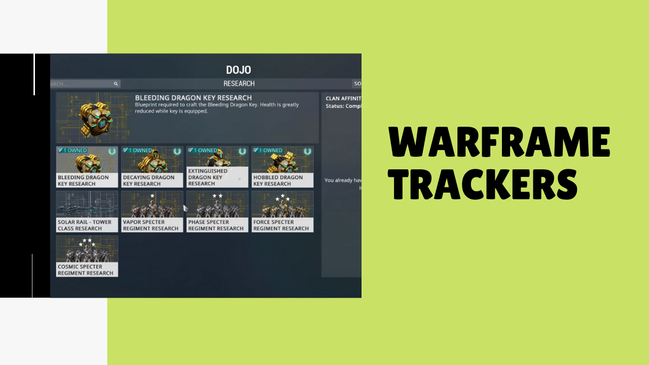 Warframe trackers