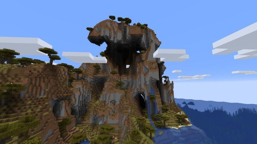 Minecraft Mountain Cliff