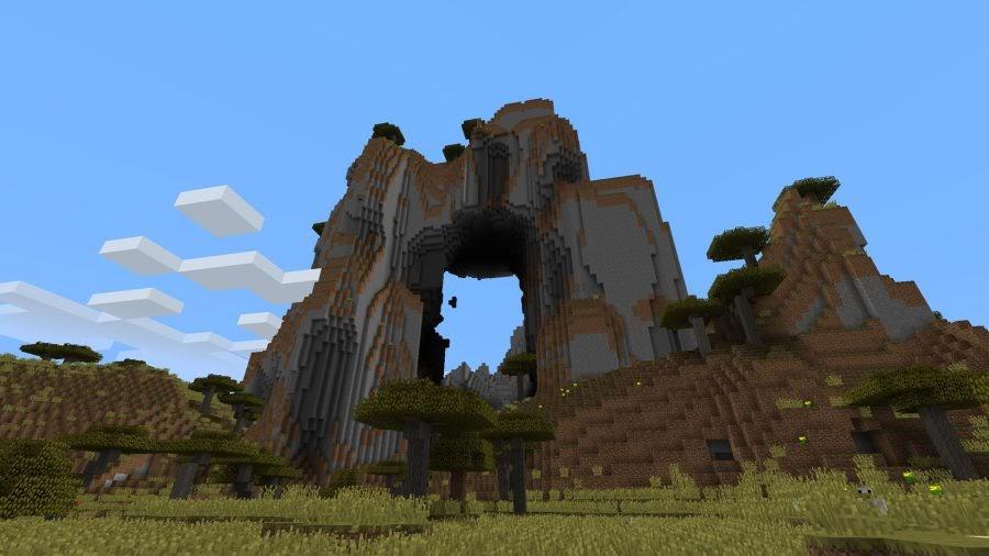 minecraft mountain archway