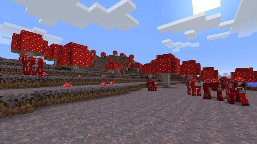 minecraft mushroom world