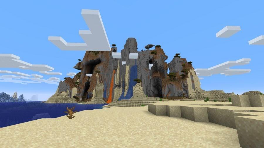 Minecraft magma and waterfalls