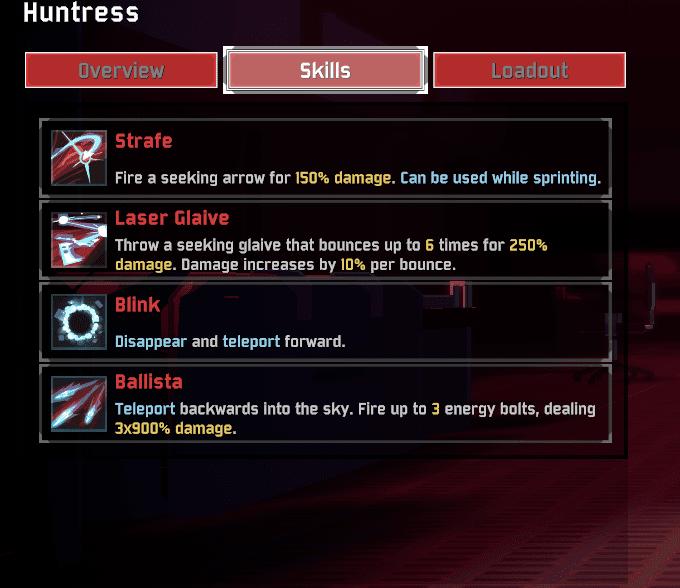 Huntress Abilities