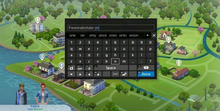 open cheat console