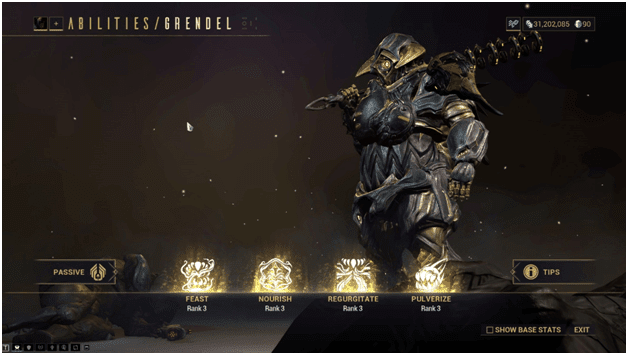 abilities of grendel warframe