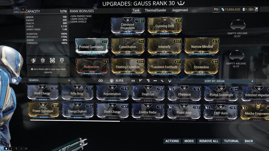 Tank Redline Build
