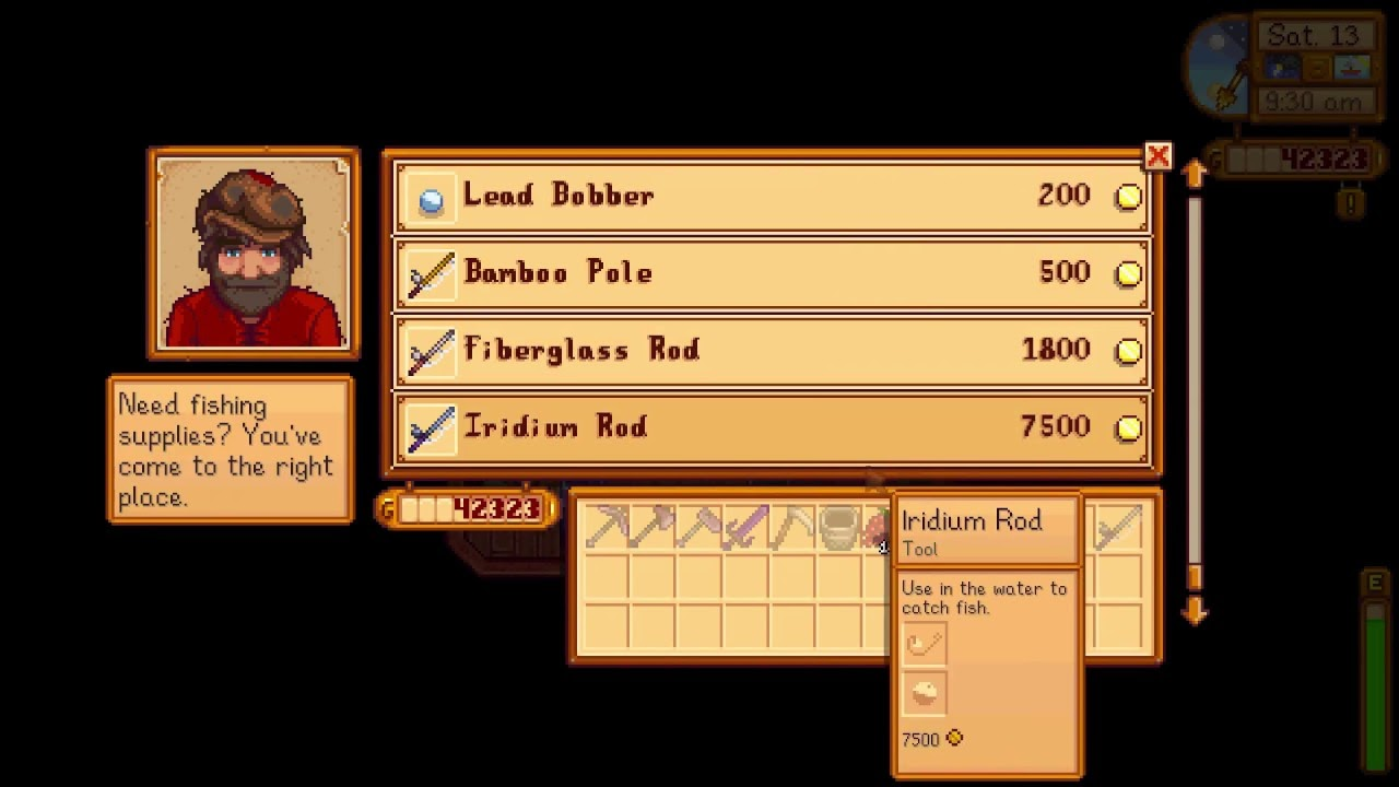 Equipment in stardew valley