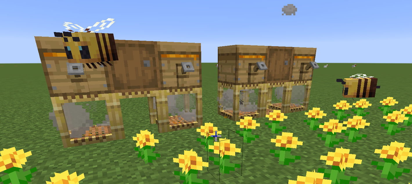 A neat lil beehive design that I made. : Minecraft: Thegamedial