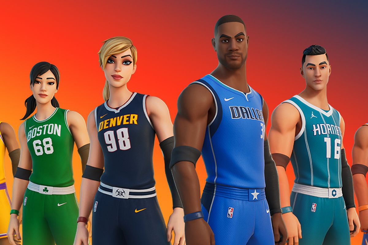fortnite jersey of the NBA players
