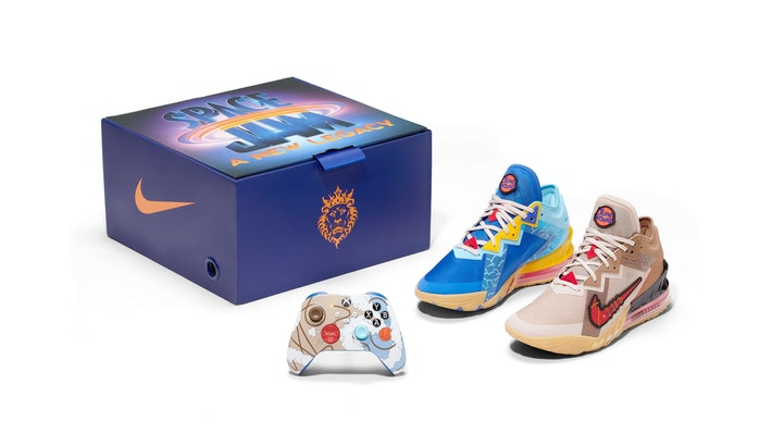 Nike has a 'Space Jam 2' sneaker pack that includes an Xbox controller