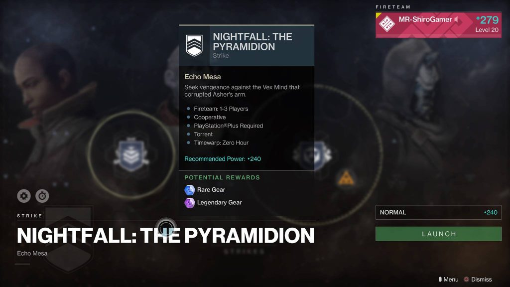 Destiny 2: Nightfall The Pyramidion