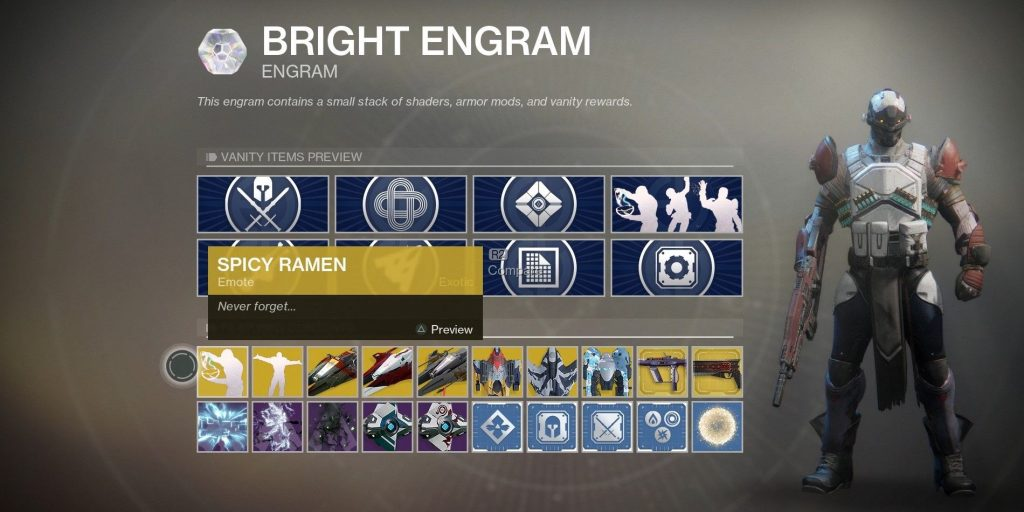 Acquiring Bright Engrams has changed