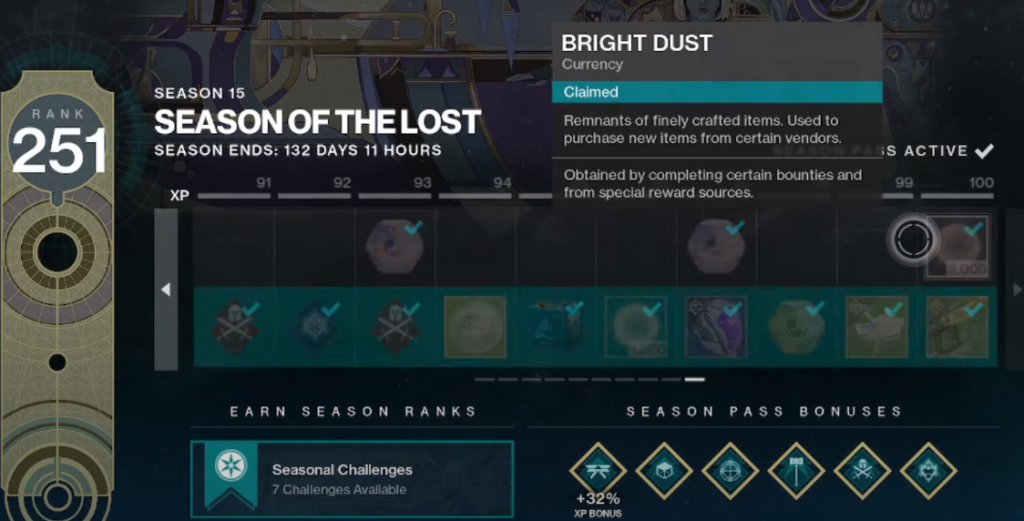 Acquiring Bright Dust has changed