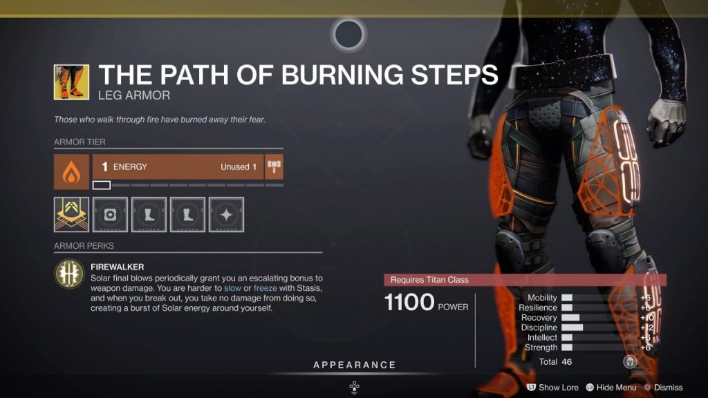 THE PATH OF BURNING STEPS